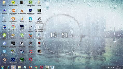 wallpaper engine clock digital clock rain drop controll for wallpaper engine