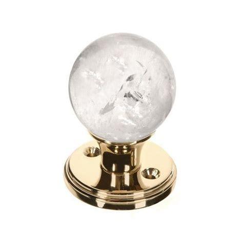 myterra quartz dummy gemstone door knob set