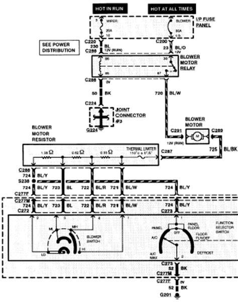 1998 ford blower motor wiring diagram free