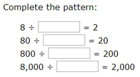 what is general pattern in math general pattern math worksheets division worksheets