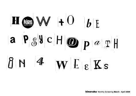 contoh film psikopat how to be a psychopath in 4 weeks
