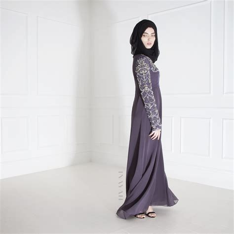 Dress Muslim Inayah inayah zareen evening gown black georgette www