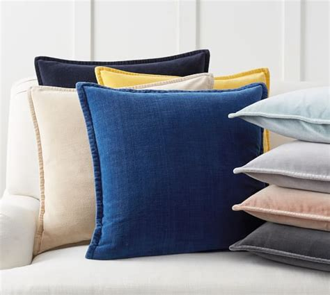 Washing Pillow by Washed Velvet Pillow Cover Pottery Barn