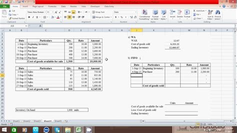 How To Calculate Ending Inventory And Cogs Periodic Is By Using Wa Fifo Lifo Method In Lifo Excel Template