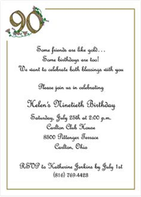 90th birthday invitation wording ideas wording for 90th birthday invitations 90 birthday invitations golden 90th birthday