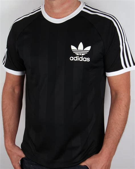 adidas retro t shirt black 3 stripes skool original