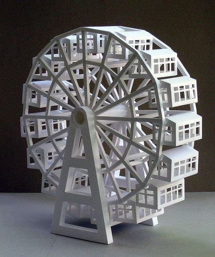 9 Best Paper Riesenrad Images On Pinterest Ferris Wheel Ferris Wheels And Craft Ferris Wheel Template Paper
