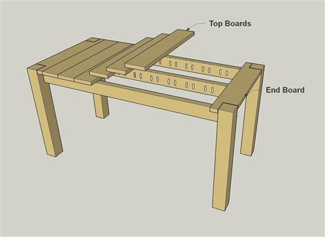 how to build a simple desk cedar patio table buildsomething com