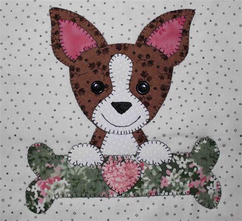 Patchwork Applique Patterns - chihuahua applique wall hanging quilt quilts