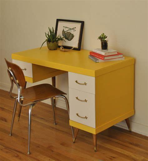 white mid century desk yellow and white mid century desk trevi vintage design