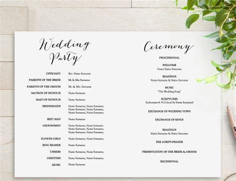 25 Wedding Program Templates Free Psd Ai Eps Format Download Free Premium Templates Wedding Program Template