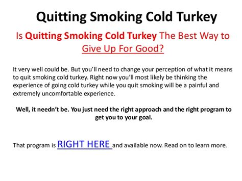 Cold Turkey Detox by Quitting Cold Turkey