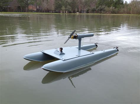 rc jet airboat airboat using seaplane floats rcu forums