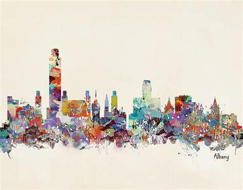 Duvet New York Albany New York Skyline Painting By Bri B