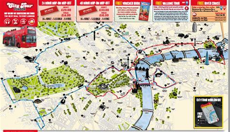 thames river cruise route map city tour london hop on hop off ticket with free thames
