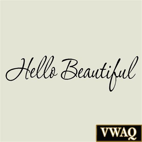 aliexpress com buy hello beautiful quotes wall decals vinyl stickers for bedroom or bathroom hello beautiful wall decal inspirational quotes mirror