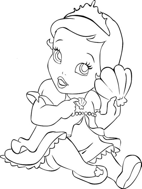 Coloring Page Princess by Baby Princess Coloring Pages Free Printable Baby Princess