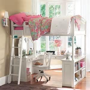 Loft Bed Pbteen Chelsea Vanity Loft Bed