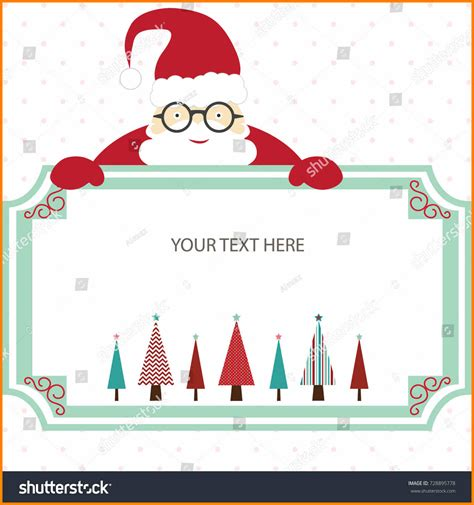 santa card template 7 invitation card template cio resumed