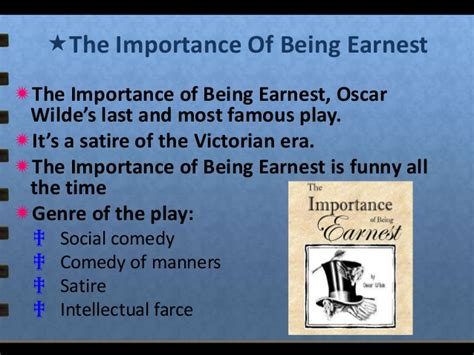 themes the importance of being earnest oscar wilde 1854 1900