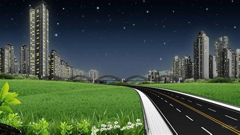 background jalan road to city hd desktop wallpaper widescreen high