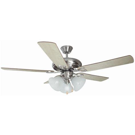 design house ceiling fans design house bristol 52 in 3 light satin nickel ceiling