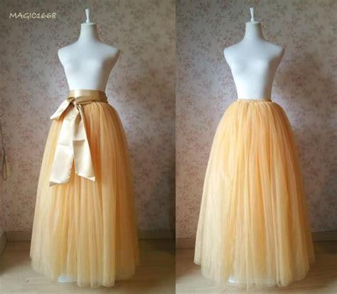 diy length tulle skirt floor length tulle skirt apricot bridesmaid tutus