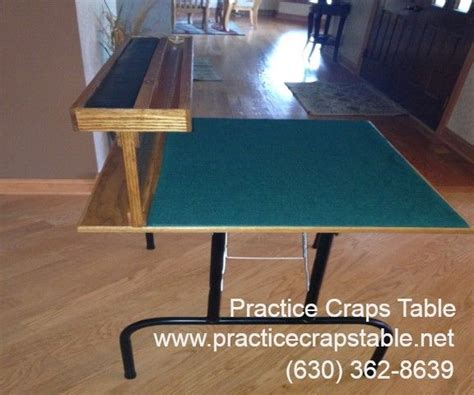 practice craps table shooting and receiving table kits for