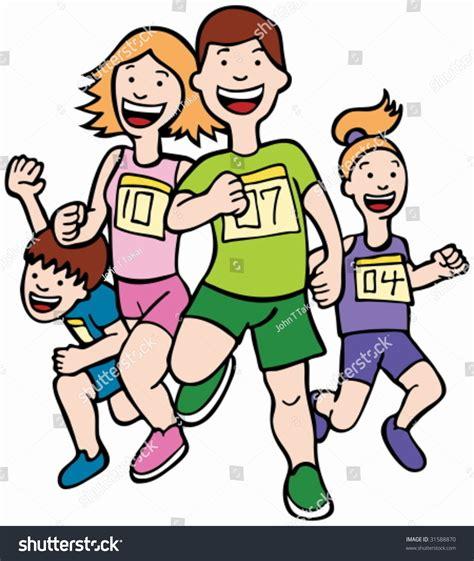 cartoon race cartoon runner people race stock vector 31588870