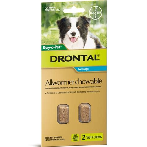 drontal plus for dogs flavor drontal dewormer chewables 2 22lbs 2 dose flavor chews