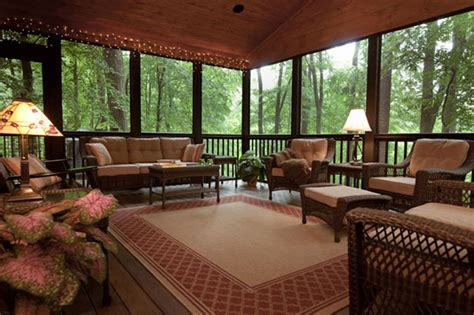 Screened Porch Remodeling Ideas Outdoortheme Com Screened Porch Furniture Ideas