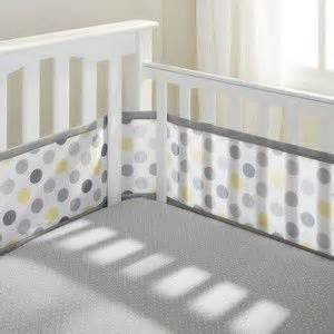 breathable mesh crib liner by breathablebaby grey and