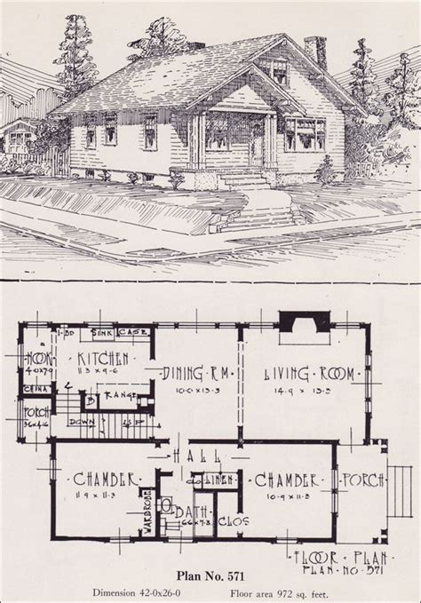 Famous 1920s Craftsman Bungalow House Plans 1920s Cottage House Plans