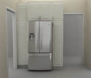 There are two tall pantry cabinets at the fridge wall the one to the