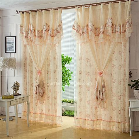 beige lace curtains poly cotton blend beige princess lace curtain for girls