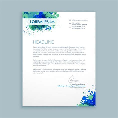 Zakelijke Briefformat Zakelijke Brief Met Inktvlekken Vector Gratis