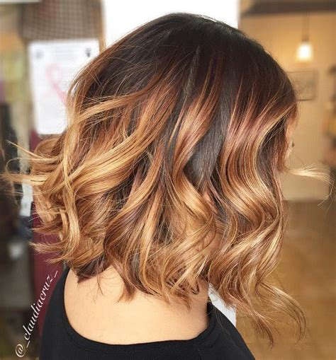 caramel and blondebob styles brown ombre hair solutions for any taste