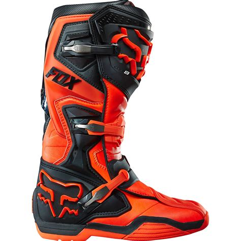 road bike boots fox mx gear new 2015 comp 8 orange motocross off road dirt