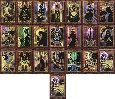 printable persona tarot cards dream cage