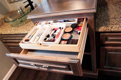 Custom Makeup Vanity by Custom Bath Vanity With Built In Makeup Drawer Home