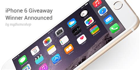 Iphone 4 Giveaway 2014 - iphone 6 giveaway winner announced mythemeshop