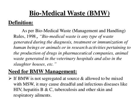Biography Medical Definition | biomedical waste management with case study ppt by
