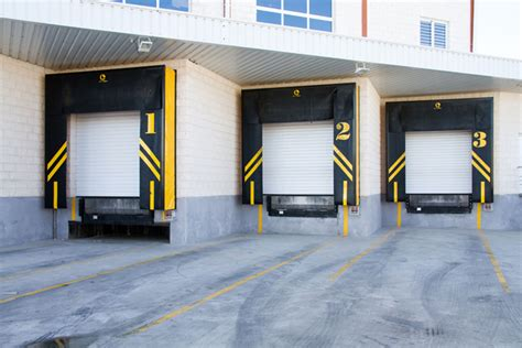 warehouse bay layout large industrial loading bay blue seal doors design