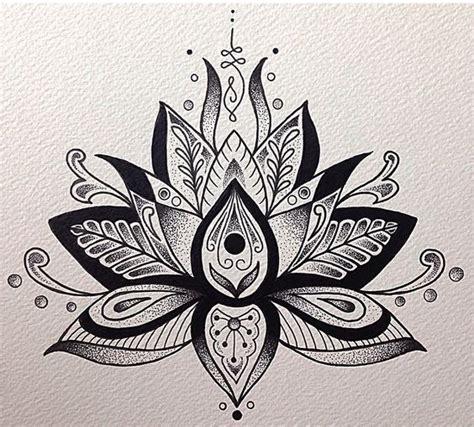 black lotus tattoo jackie grey and black lotus flower tattoo design