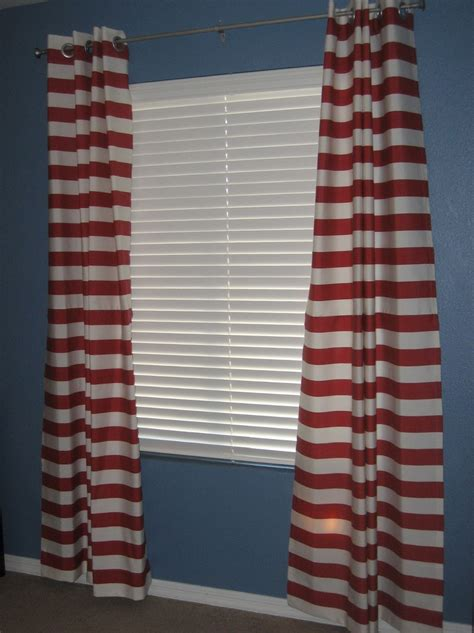red and white horizontal striped curtains red horizontal striped curtains home design ideas