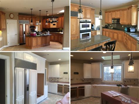 kitchen cabinet refacing michigan cabinet refinishing photos premier painting