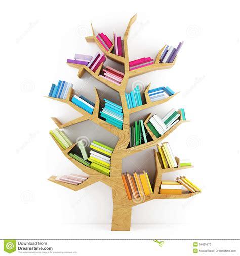 alberi clipart albero di conoscenza scaffale di legno con i libri