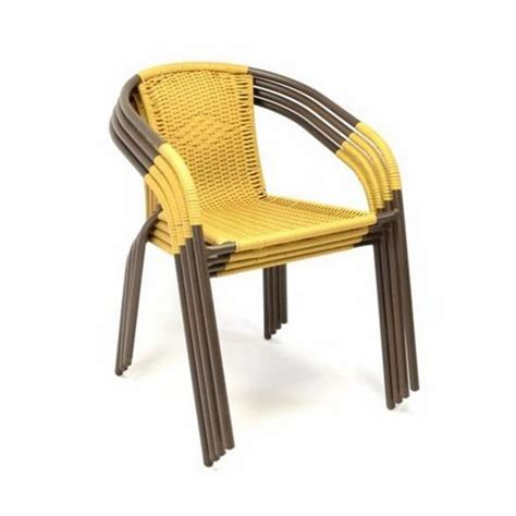 sedie per esterno sedie bistrot per arredamento esterno bar in polyrattan giallo