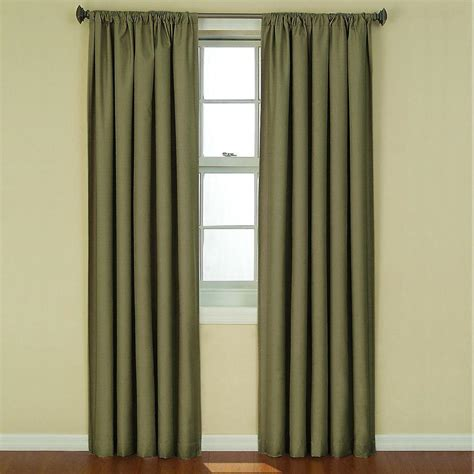 green eclipse curtains eclipse kendall blackout artichoke curtain panel 84 in