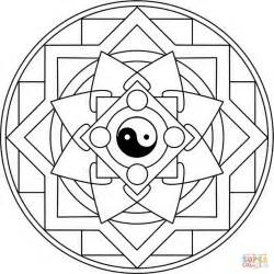 yin yang coloring pages mandala with yin yang coloring page free printable